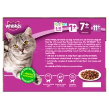 image 2 of Whiskas 7+ Meat In Gravy Senior Cat Pouches 12 X100g