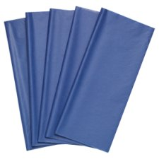 Tesco Royal Blue Tissue 5 Sheets