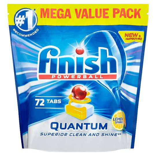 image 1 of Finish Quantum Max Lemon 72 Dishwasher Tablets