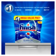 image 2 of Finish Quantum Max Lemon 72 Dishwasher Tablets