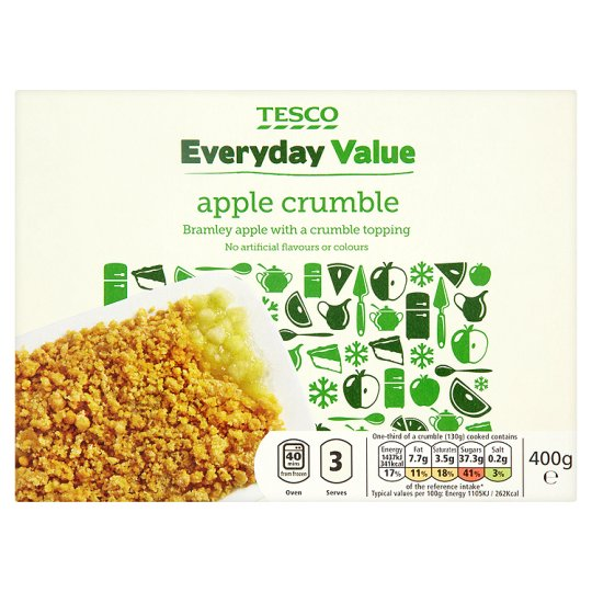 Tesco Everyday Value Apple Crumble 400G