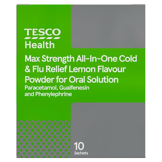 Tesco Max All-In-One Chesty Cough And Cold Sachets 10S