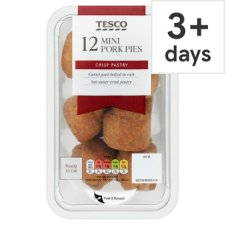 Tesco 12 Bitesize Pork Pies 300G