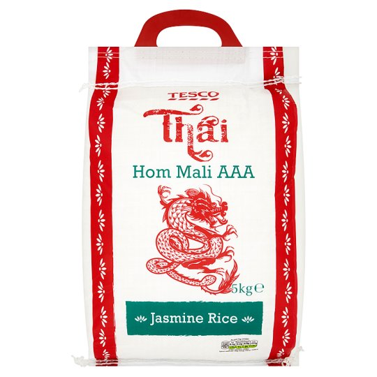 Tesco Thai Hom Mali Aaa Jasmine Fragrant Rice 5Kg