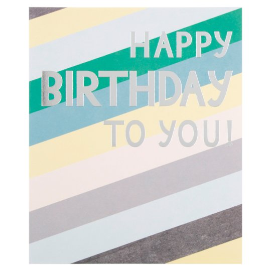 Hallmark Birthday Card Happy Birthday To You Tesco Groceries