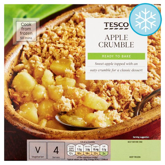 Tesco Apple Crumble 500G
