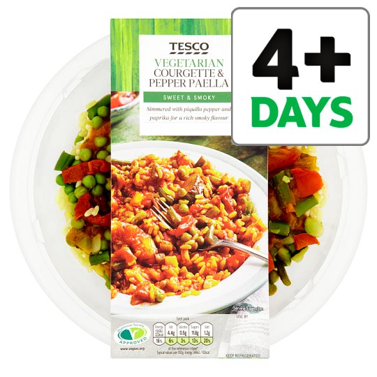 Tesco Smoky Pepper And Courgette Paella Ready Meal 400G