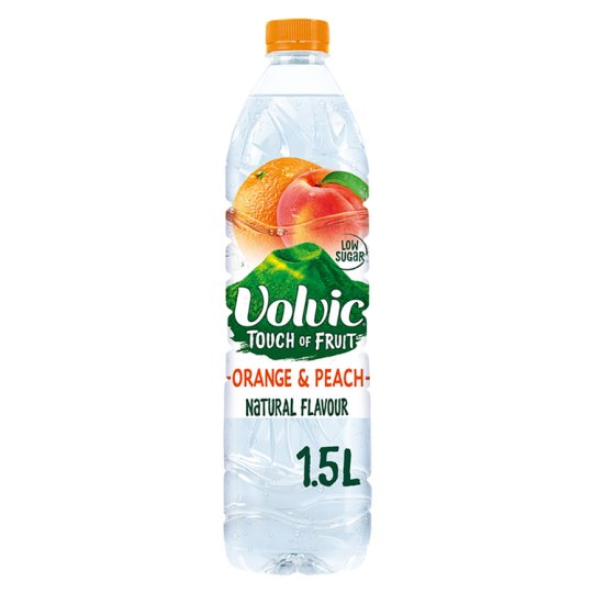 Volvic Touch Of Fruit Orange And Peach 1.5Litres