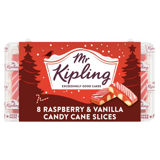 Mr Kipling Candy Cane Slices 8 Pack