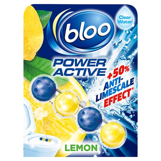 Bloo Poweractive Lemon Toilet Rim Block 50G