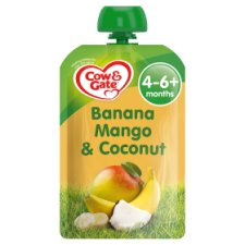 Cow And Gate Fruit Pouch 4 Month+ Banana Coconut 100G