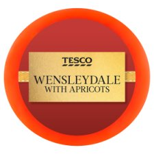 Tesco Wensleydale With Apricot 100G