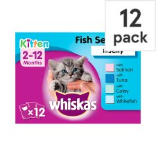 Whiskas 2-12Mth Jelly Fish Selection Kitten 12 X100g