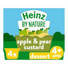 Heinz Pear And Apple Custard 4X100g