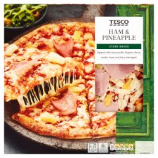 Tesco Stonebaked Ham And Pineapple Pizza 315G