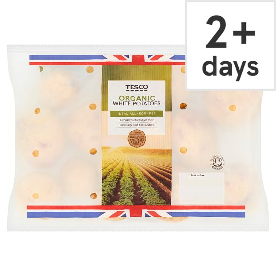 Tesco Organic White Potatoes 1.5Kg