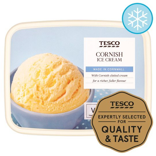 Tesco Cornish Ice Cream 2 Litres