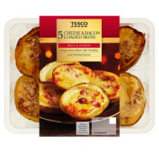Tesco 5 Loaded Potato Skins 306G