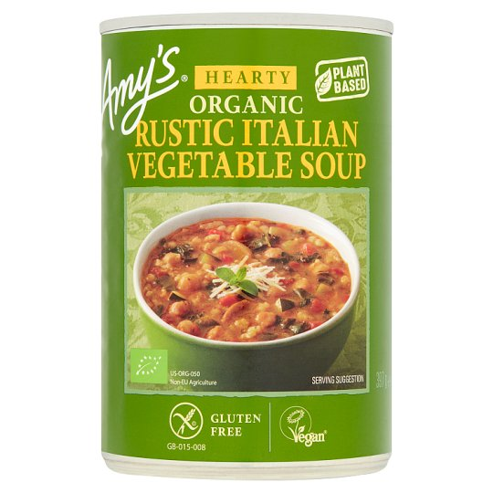 Amy\'s Kitchen Gluten Free Rustic Vegetable Soup 397G - Tesco Groceries