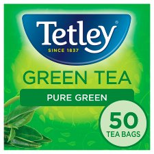 Tetley Green Tea Pure 50 Tea Bags 100G