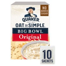 Quaker Oat So Simple Big Bowl Original Porridge 10 X38.5G