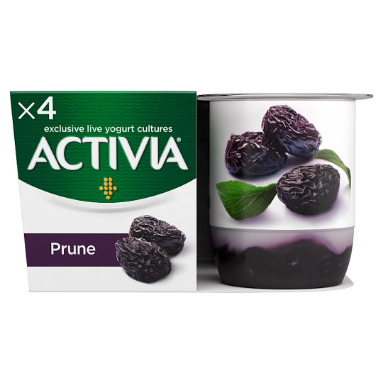 image 1 of Activia Fusion Prune Yogurt 4 X125g