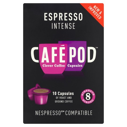 Cafepod Intense #8 Coffee Pods 10 Servings