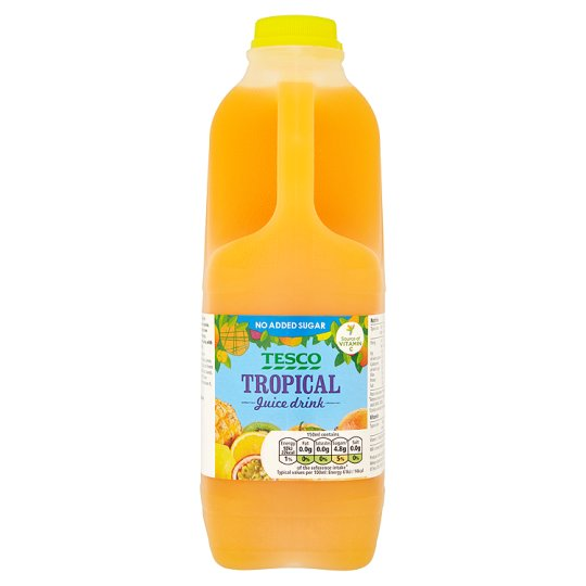 Tesco No Added Sugar Tropical Juice Drink 2 Litre