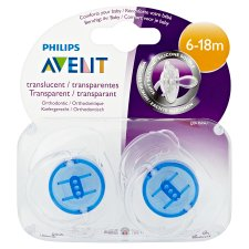 Avent Soother Translucent 6-18 Mths