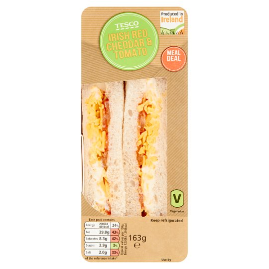 Tesco Red Cheddar And Tomato Sandwich