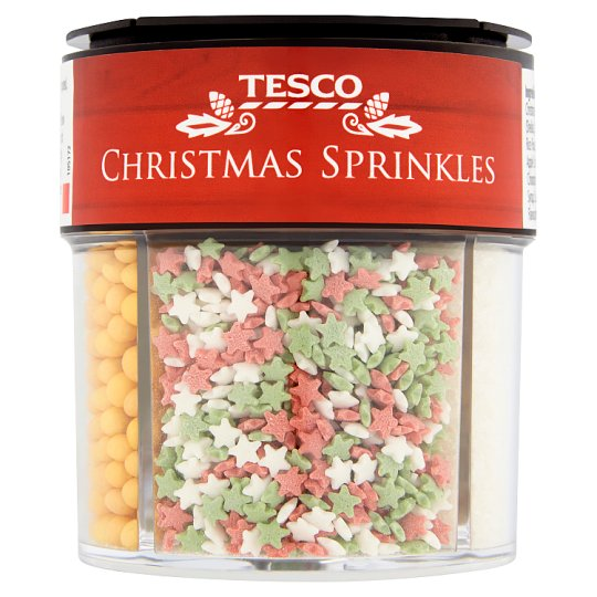 Tesco Christmas Sprinkles 73G