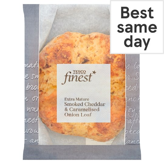 Tesco Finest Smoked Cheddar Cheese And Caramlis Onion Loaf