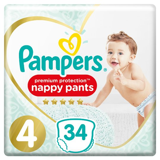 image 1 of Pampers Premium Protection Pants Size 4 34 Nappies Essential Pack