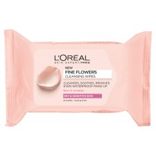 L'oreal Paris Fine Flowers Dry Sensitive Cleansing Wipes 25 Pack