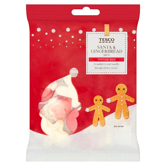 Tesco Santa And Gingerbread Men Jelly Sweets 75G