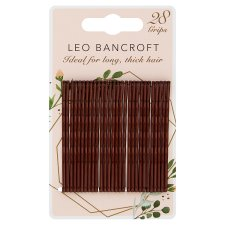 Leo Bancroft Large Hair Grips Brown 28Pk