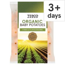 Tesco Organic Baby Potatoes 750G