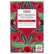 Tesco Red Berries 20 Tea Bags 60G