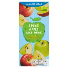 Tesco No Added Sugar Apple Juice Drink 1L