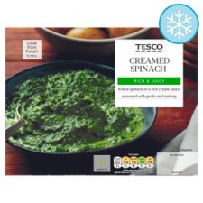 Tesco Creamed Spinach 300G
