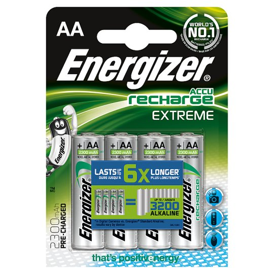 Energizer Pre-Charged Aa 4 Pack