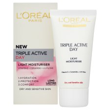 L'oreal Triple Active Fluid Dry Sensitive 50Ml