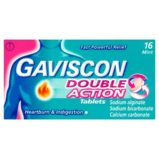 Gaviscon Double Action Heartburn Tablets X 16