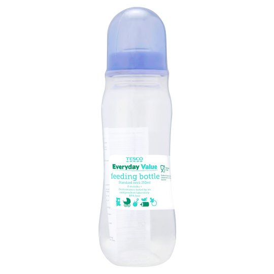 Tesco Everyday Value Feeding Bottle Standard Neck 250Ml