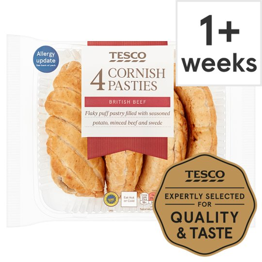 Tesco 4 Cornish Pasties 520G