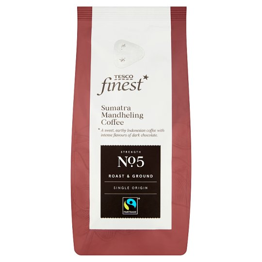 Tesco Finest Roast & Ground Coffee Sumatra Mandheling 227G