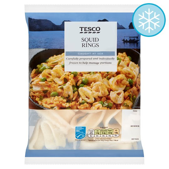 Tesco Raw Squid Rings 300G