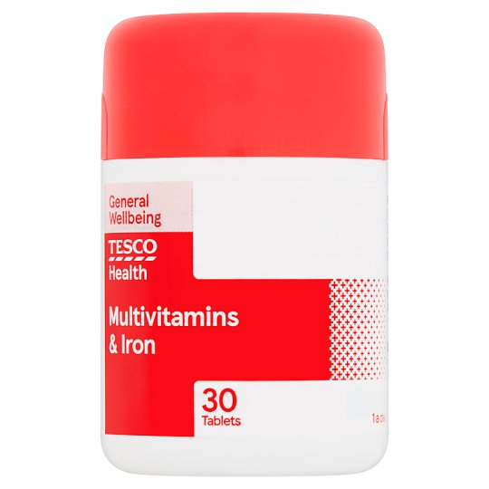 Tesco Multivitamins Plus Iron X 30