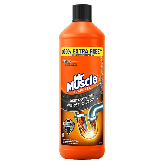 Mr muscle kitchen and bath drain gel 500ml groceries for Mr muscle idraulico gel