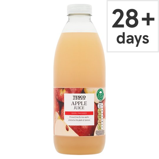 Tesco 100% Pressed Apple Juice 1 Litre
